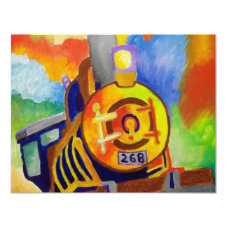 Riding That Train by Piliero 11 Cm X 14 Cm Invitation Card