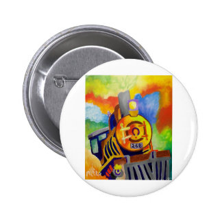 Riding That Train by Piliero Pinback Buttons