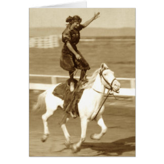 Riding The White Horse Card