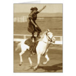 Riding The White Horse Greeting Card