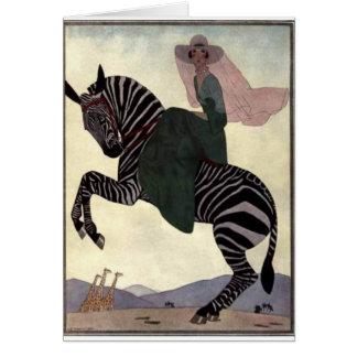 Riding the Zebra Card