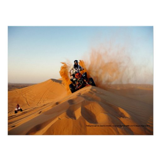 Riding Through the Deserts of Dubai Posters