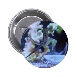 Riding through the ocean 6 cm round badge