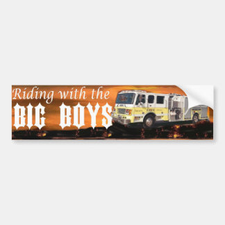 riding with the big boys bumper sticker