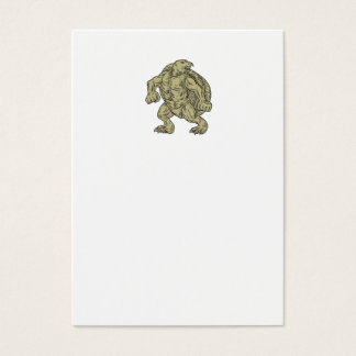 Ridley Sea Turtle Martial Arts Stance Drawing Business Card