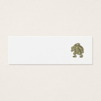Ridley Sea Turtle Martial Arts Stance Drawing Mini Business Card