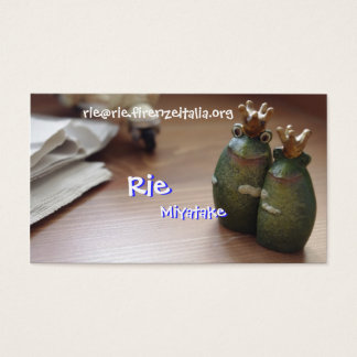 Rie and Rie,… Business Card