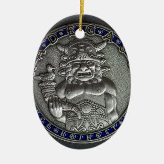 Riedegost: Slavic God of Hospitality Ceramic Oval Decoration