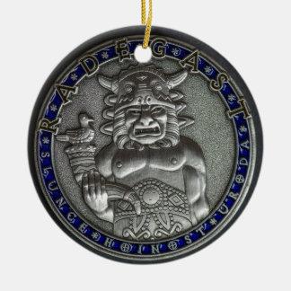 Riedegost: Slavic God of Hospitality Round Ceramic Decoration