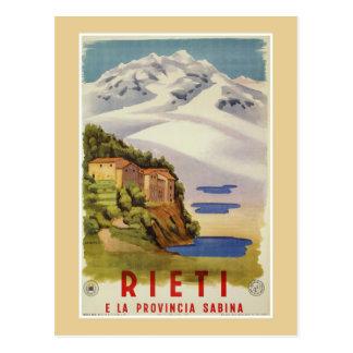 Rieti Sabina vintage Italian travel poster ad Postcard