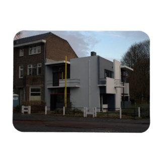 Rietveld Schröder House Utrecht Rectangle Magnet