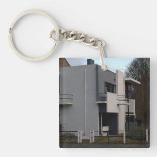 Rietveld Schröder House, Utrecht Single-Sided Square Acrylic Key Ring