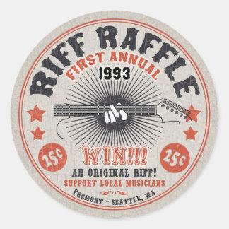 Riff Raffle Round Sticker