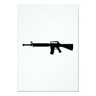 Rifle M4 Personalized Invitations