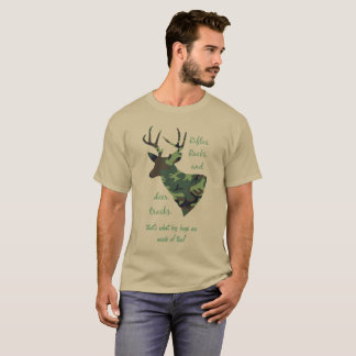 Rifles, Racks and Deer Tracks Camouflage Hunting T-Shirt
