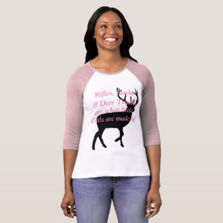 Rifles, Racks & Deer Tracks are what little Girls T-Shirt