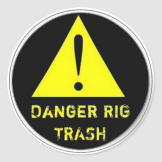 Rig Trash sticker