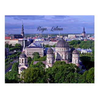 Riga, Latvia cityscape Postcard