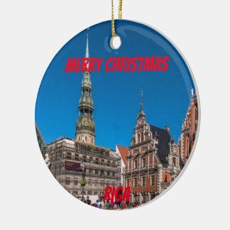 Riga Latvia Scenic Ornament