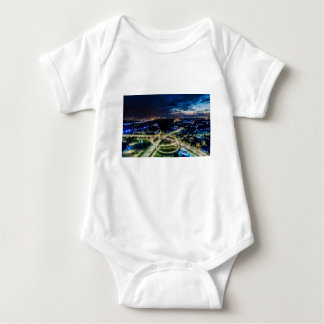 Riga Night Skyline Baby Bodysuit