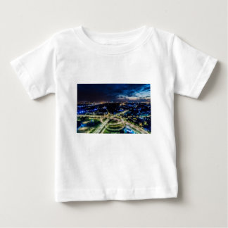 Riga Night Skyline Baby T-Shirt