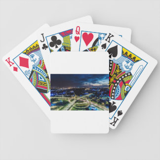 Riga Night Skyline Bicycle Playing Cards