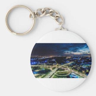 Riga Night Skyline Key Ring