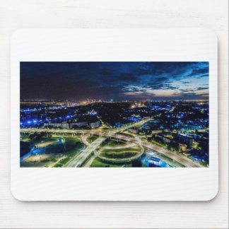 Riga Night Skyline Mouse Pad
