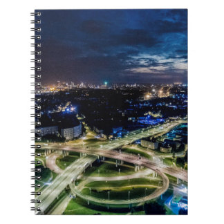 Riga Night Skyline Notebook