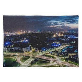 Riga Night Skyline Placemat