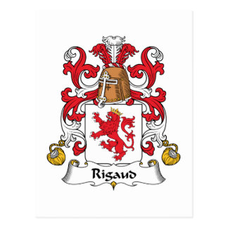 Rigaud Family Crest Postcard