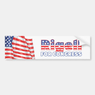 Rigell for Congress Patriotic American Flag Bumper Sticker