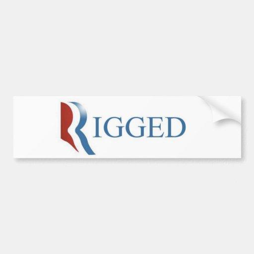 Rigged Bumper Sticker, GOP, RNC, Election