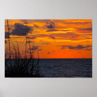 Right before sunrise, Fort Pierce, Florida Poster