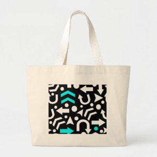 Right direction - cyan large tote bag