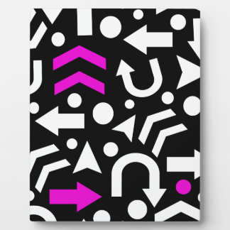 Right direction - magenta display plaques