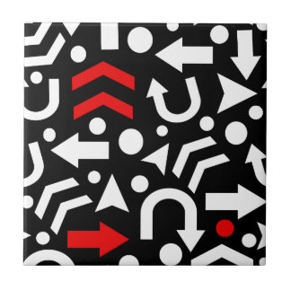 Right direction - red ceramic tile