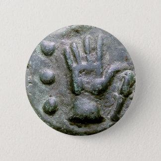 Right Hand Aes Grave Quadrans 6 Cm Round Badge