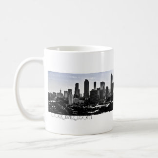 Right-Handed Atlanta Skyline Pano Mug Blue Horizon