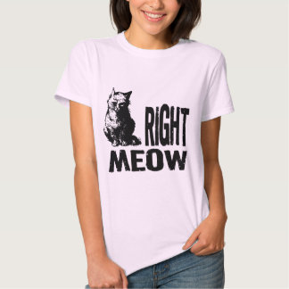 Right MEOW! Funny Evil Kitty Tees
