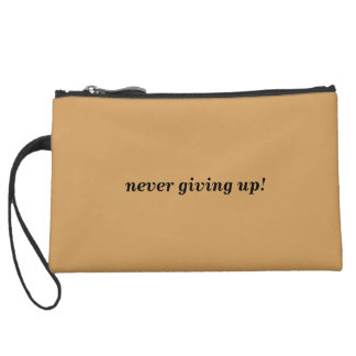 Right Minus Wrong - Bag (never give up) Wristlet Purse