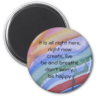 """""""right now"""" watercolor magnet"""