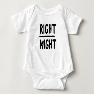Right Over Might Baby Bodysuit