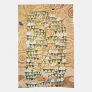 Right Part of the Tree of Life by Gustav Klimt Tea Towel