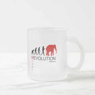 RIGHT REVOLUTION FROSTED GLASS MUG