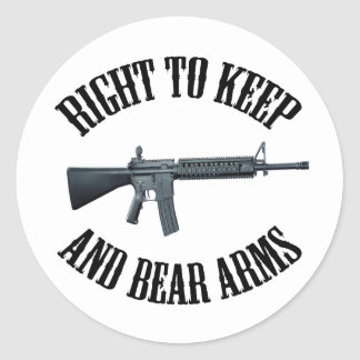 Right To Keep And Bear Arms AR-15 Classic Round Sticker