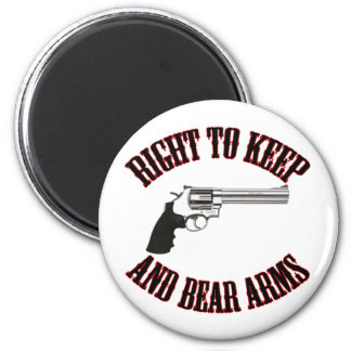 Right To Keep And Bear Arms Revolver Magnet