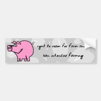 Right to roam for farm animals bumper sticker