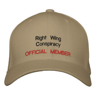 Right Wing Conspiracy Embroidered Cap