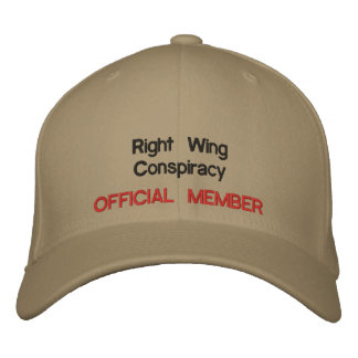 Right Wing Conspiracy Embroidered Baseball Caps